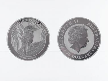 Australien 30$ Kookaburra 2014, 1 Kilo Kg  Silber