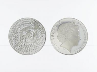 Australien 1$ Känguru 2001, 1 oz  Silber proof