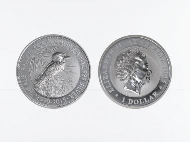 Australien 1$ Kookaburra 2015, 1 oz  Silber