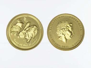 Australien 5$ Lunar II  Hase, 1/20 Unze  2011