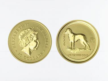 Australien 15$ Lunar I  Hund, 1/10 Unze  2006