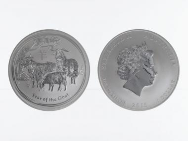 Australien 1$ Ziege Lunar II  2015, 1 oz  Silber
