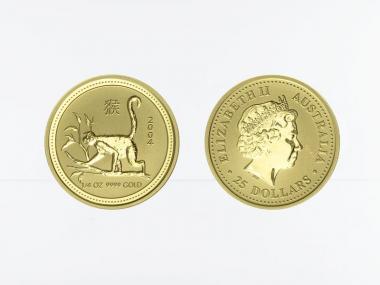 Australien 25 $ Lunar I  Affe, 1/4 Unze  2004