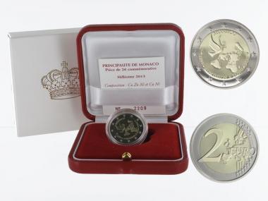 Monaco original 2 € 20 Jahre UNO., 2013 PP in Originalbox