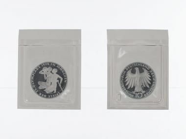 Sportlerpaar 1972, 10 DM Silber, PP