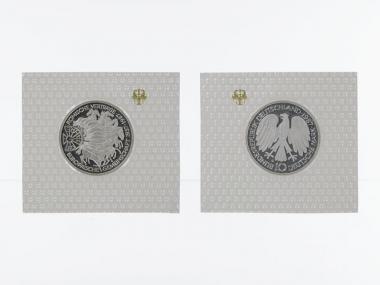 30 J. Römische Verträge 1987, 10 DM Silber, PP