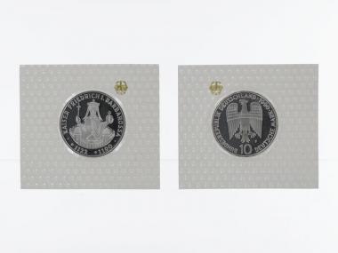 Friedrich Barbarossa 1990, 10 DM Silber, PP