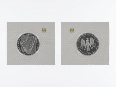 Deutscher Orden 1990, 10 DM Silber, PP