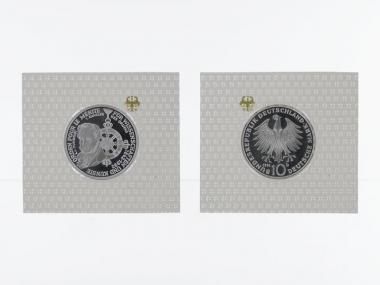 Pour le Merite 1992, 10 DM Silber, PP