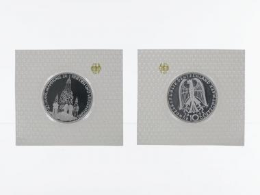 Frauenkirche Dresden 1995, 10 DM Silber, PP
