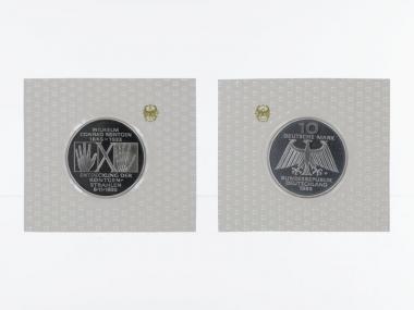 Conrad Röntgen 1995, 10 DM Silber, PP