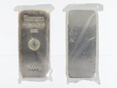 1000 Gramm Silberbarren 999,9 Feinsilber Sekundärware