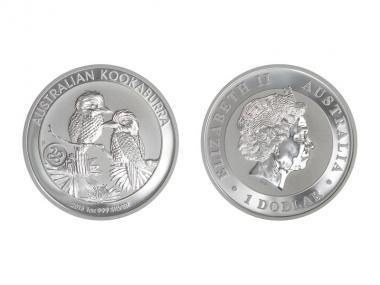 Australien 1$ Kookaburra 2013 Privy Schlange, 1 oz  Silber