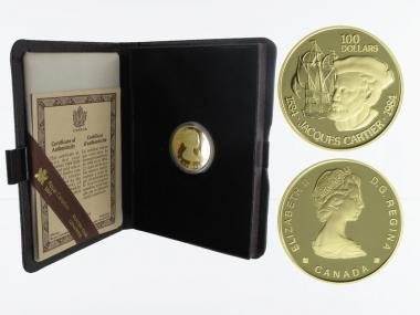 Kanada Cartier + Flagschiff 100 Dollars 1984, pp