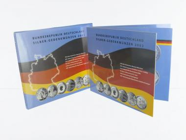 10 € Gedenkmünzenset 2003 (6) Blister kpl. PP
