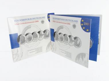 10 € Gedenkmünzenset 2006 (5) Blister kpl. PP