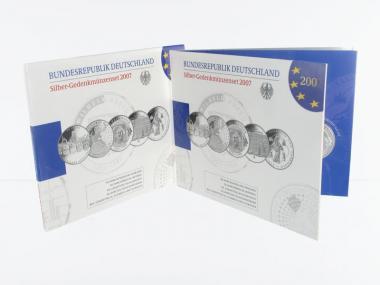 10 € Gedenkmünzenset 2007 (5) Blister kpl. PP