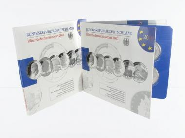 10 € Gedenkmünzenset 2010 (6) Blister kpl. PP