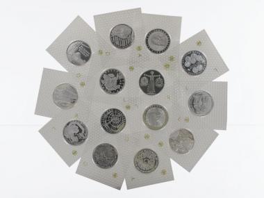 10 DM 1998-2001 komplett, Polierte Platte, 14 Folien