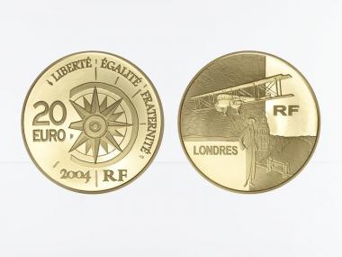 Frankreich 20 Euro Gold, 2004,  Weltreise Flug