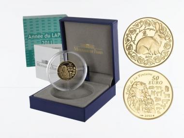 Frankreich 50 Euro Gold, 2011,  Jahr des Hasen