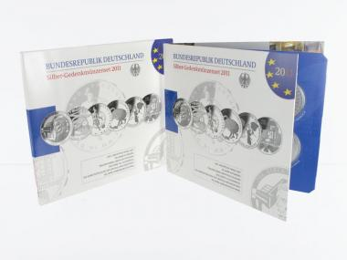 10 € Gedenkmünzenset 2011 (6) Blister kpl. PP