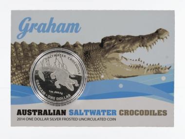 Australien 1$ Saltwater Crocodile (RAM), Graham 2014, Blister