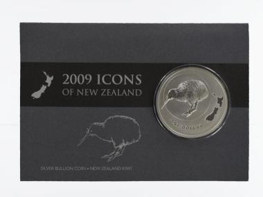 Neuseeland 1$ Kiwi 2009 Blister, 1 oz  Silber