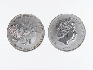 Neuseeland 1$ Kiwi 2006, 1 oz  Silber