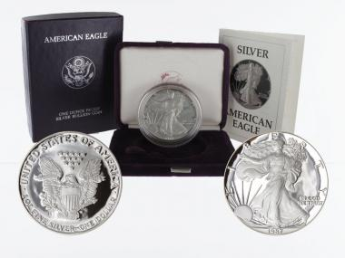 USA 1 Dollar Silver Eagle 1987 PP (proof), (B+C)