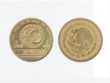 Mexiko 500 Pesos 1985,Fußball-WM 1986, PP