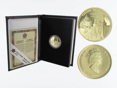 Kanada Festung Louisbourg 100 Dollars 1995,  proof