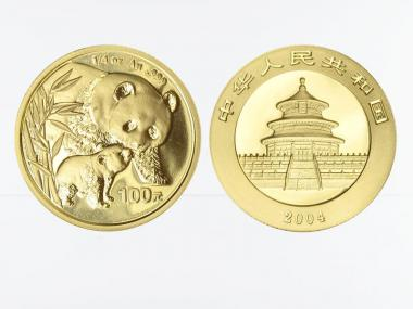 China 100 Yu  Panda 2004, 1/4 Unze Feingold