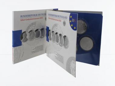 10 € Gedenkmünzenset 2012 (5) Blister kpl. PP