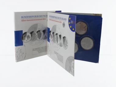 10 € Gedenkmünzenset 2014 (5) Blister kpl. PP