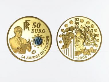 Frankreich 50 Euro Gold, 2006,  Europa  R. Schumann