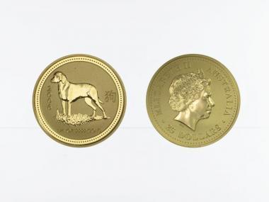 Australien 25 $ Lunar I  Hund, 1/4 Unze  2006