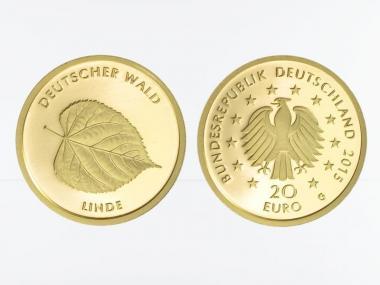 BRD 20 Euro Gold, 2015 J,  Deutscher Wald Linde