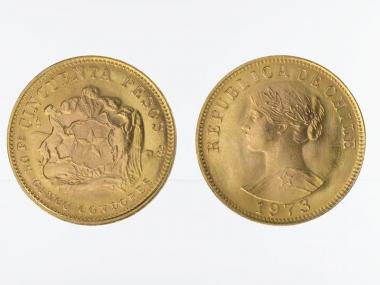 Chile 50 Pesos Freiheitskopf 1973