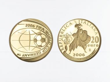 Italien 20 Euro Gold, 2006, Fußball-WM 2006, original