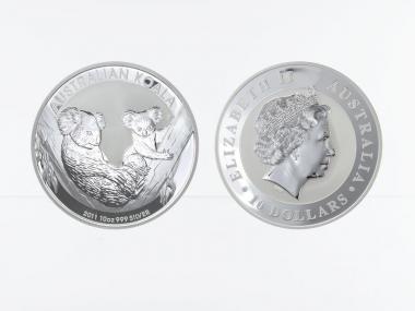 Australien 10 $ Koala 2011, 10 Unzen  Silber