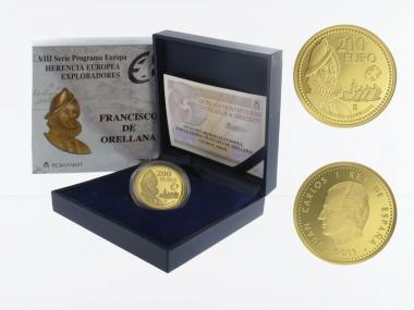Spanien 200 Euro Gold, 2011,  Entdecker Orellana