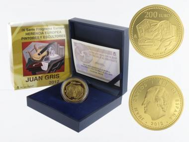 Spanien 200 Euro Gold, 2012,  Juan Gris