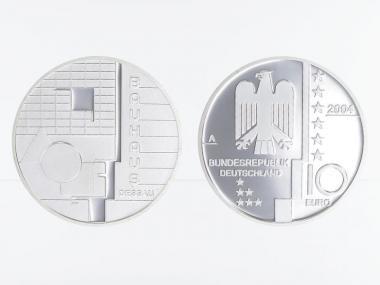 Bauhaus Dessau 10 € Silber, PP