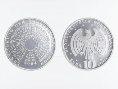 Erweiterung Europäische Union 10 € Silber, PP