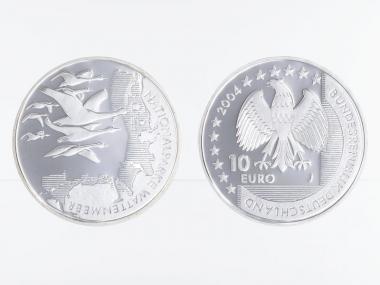 Nationalpark Wattenmeer 10 € 2004 Silber, PP
