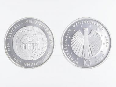 FIFA Fußball WM Brandenburger Tor 10 € Silber, PP
