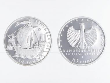 Städtehanse 10 € Silber, PP