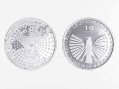 Römische Verträge 10 € Silber, PP