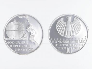 Keplersche Gesetze 10 € Silber, PP